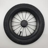 Колесо 12 дюймов со спицами черный диск